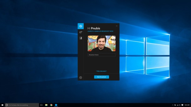 Caffeine | Windows 10 broadcast