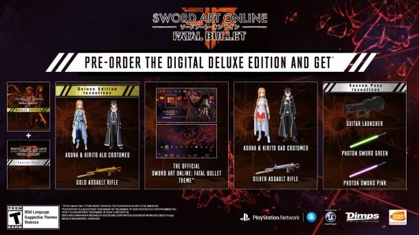 Sword Art Online: Fatal Bullet | Pre-order Bonuses