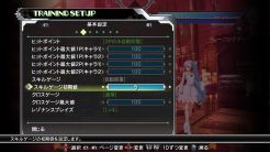 BlazBlue Cross Tag Battle training menu