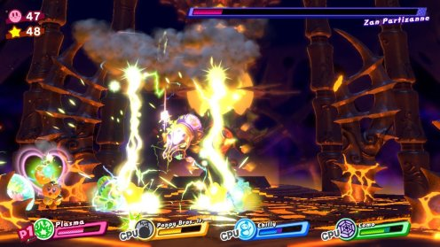 Kirby Star Allies   Zan Partizanne Fight