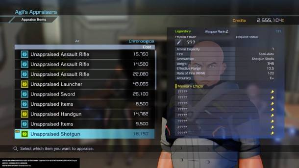 Sword Art Online: Fatal Bullet | Appraise