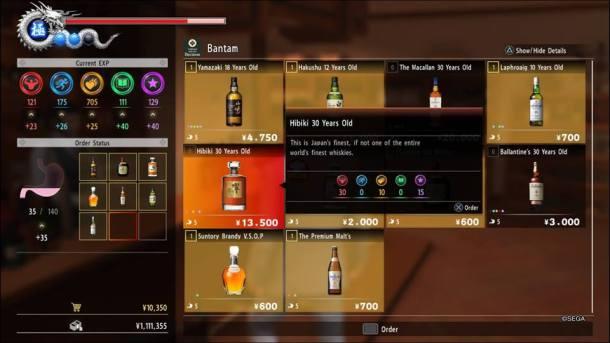 Yakuza 6 | Booze