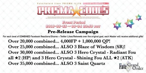 Fate/GO x Fate/kaleid liner | Pre-Release Campaign