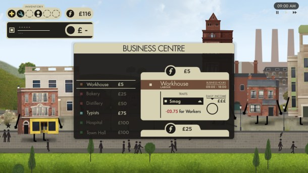 Buildings Have Feelings Too! | Business selection menu
