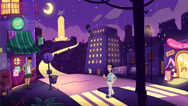 Leisure Suit Larry: Wet Dreams Don't Dry   Outside street