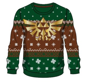 Zelda: Tinsel and Triforces sweater