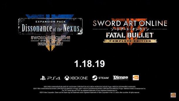 Sword Art Online: Fatal Bullet | Complete Edition, Final DLC Launch Date