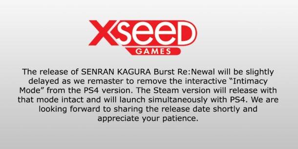 Senran Kagura Burst Re:Newal | Intimacy Mode Removal