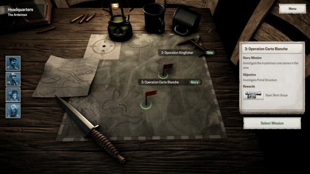 Achtung! Cthulhu Tactics   Mission Selection