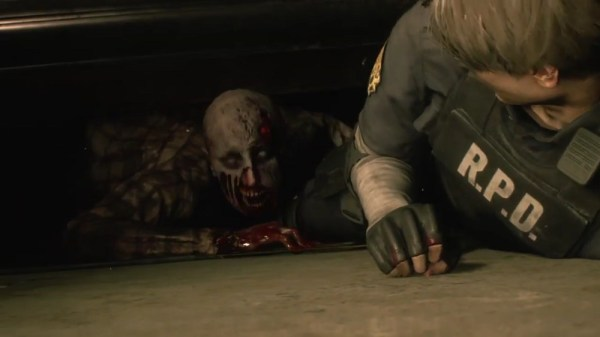 Resident Evil 2 Demo | Zombie Grabs Leon