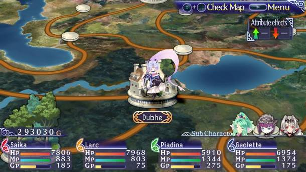 Record of Agarest War Mariage | Map
