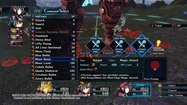Death end re;Quest   Skills