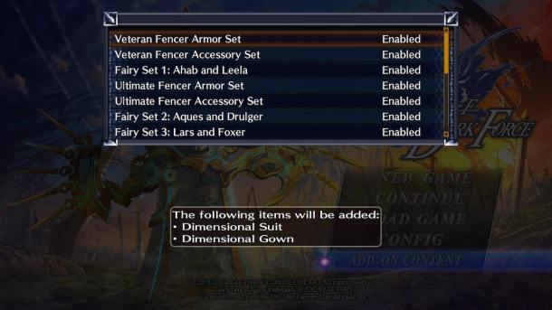 FFF Advent Dark Force | DLC