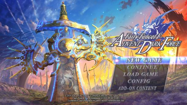 FFF Advent Dark Force | Title Screen