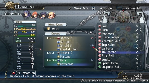 Cold Steel | Quartz Equip Menu
