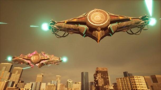 EDF Iron Rain | Alien ships