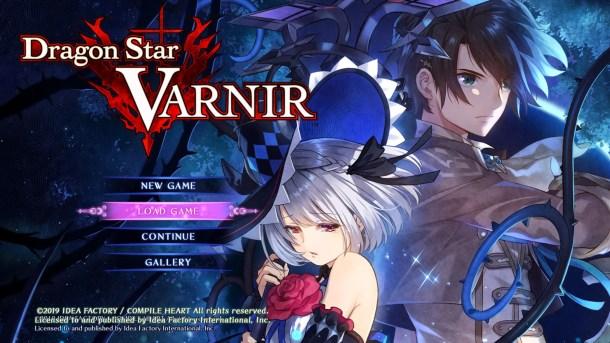 Dragon Star Varnir Title Screen