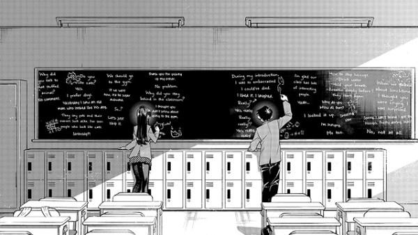 Komi Can't Communicate | The chalkboard