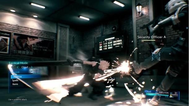 Final Fantasy VII Remake   Command Menu