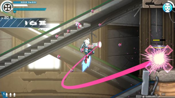 Gunvolt Chronicles: Luminous Avenger iX | Curved shot