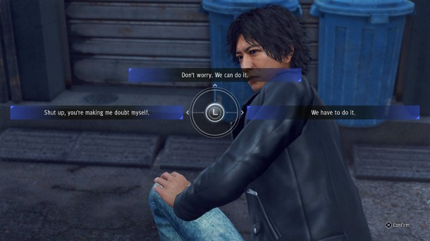 Judgment | Dialogue Options