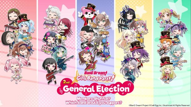 BanG Dream! Girls Band Party! | 2nd General Election