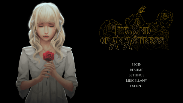 The End of an Actress | Main Menu