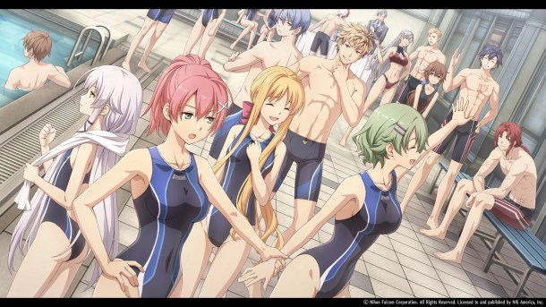 Trails of Cold Steel III | Students and staff at the pool
