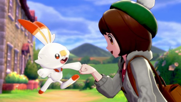 Pokemon Sword & Shield | Main character with a Scorbunny