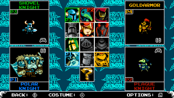 Shovel Knight Showdown | Character select