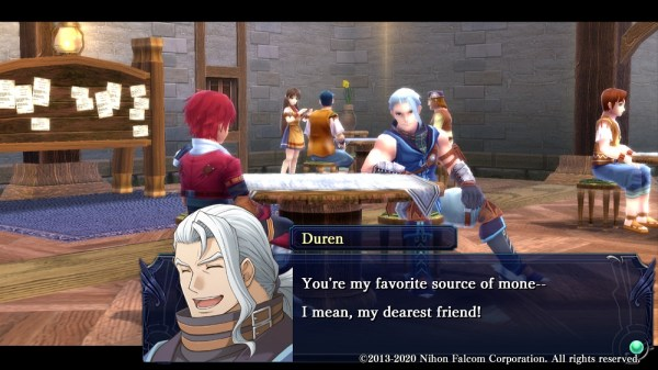 Ys: Memories of Celceta | Duren chatting with Adol