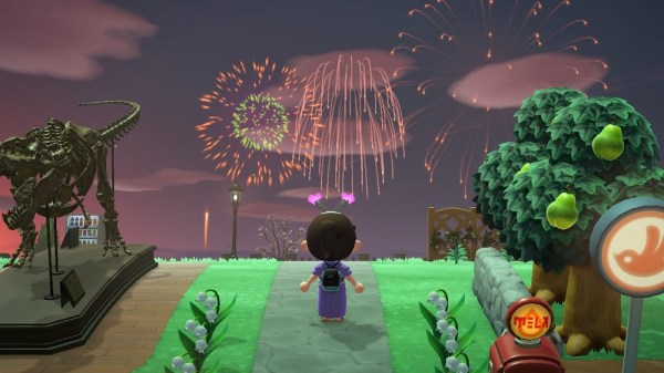 Animal Crossing: New Horizons | August fireworks