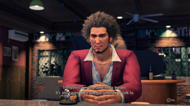 Yakuza: Like a Dragon | Ichiban sitting at a bar