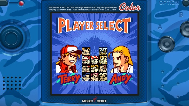 Fatal Fury First Contact | Character Select
