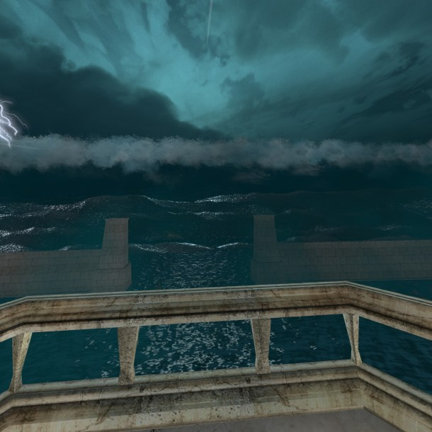 A tidal wave threatens to engulf all of Atlantis