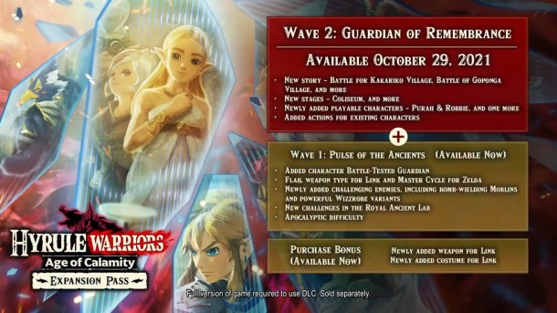 Hyrule Warriors: Age of Calamity | DLC Details