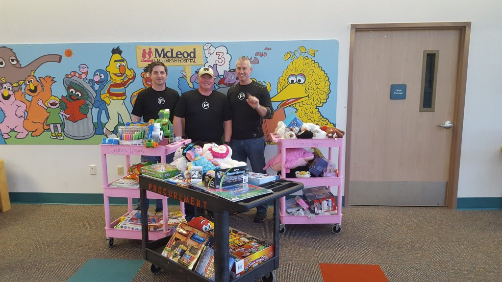 Toys delivered to McLeod Hospital.