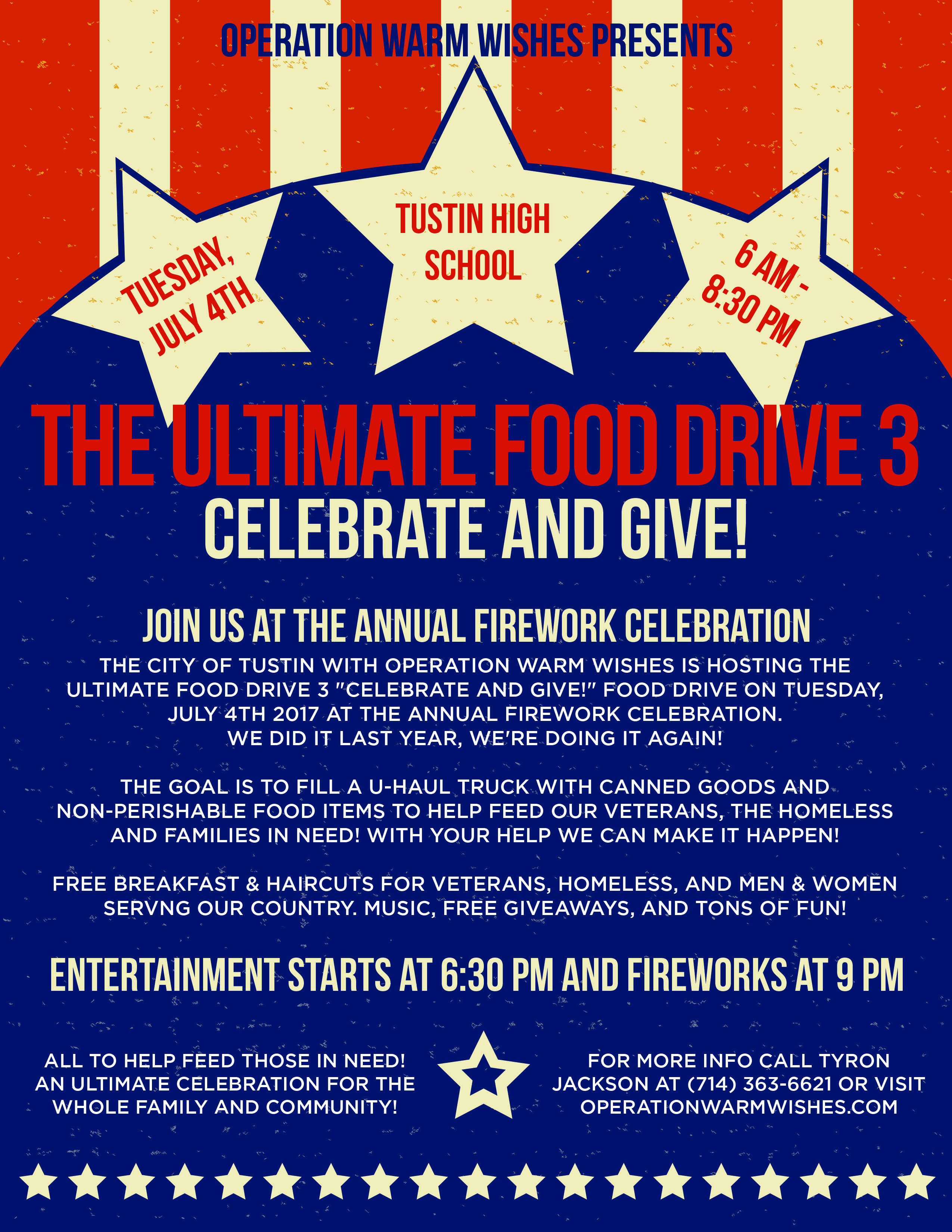 Operation Warm Wishes Presents The Ultimate Food Drive 3 Celebrate And Give Operation Warm