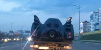 Этому городу нужен герой: легендарный автомобиль Бэтмена засветился в Киеве