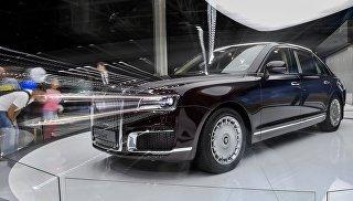 Автомобиль Aurus Senat на Московском международном автомобильном салоне 2018. Архивное фото