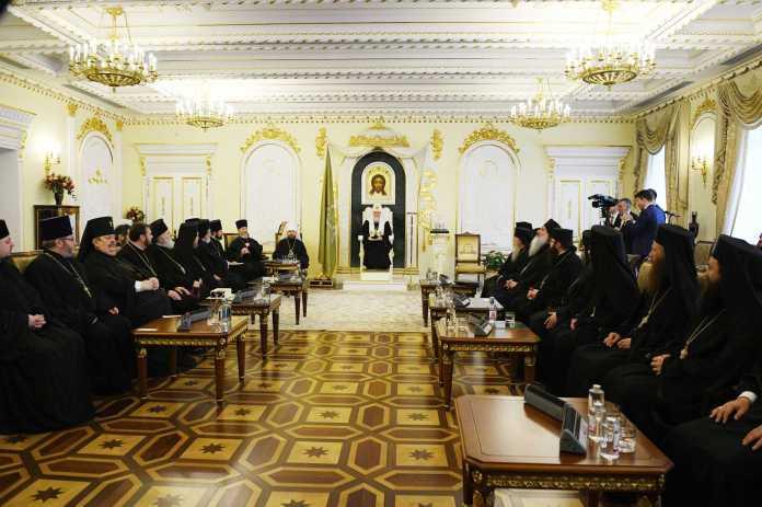 Святейший Патриарх Кирилл рассказал делегациям Поместных Православных Церквей о ситуации на Украине