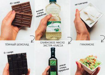 Иллюстрации, показывающие, что маленькие порции не помогут похудеть