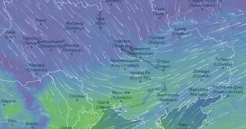 погода в реальном времени, сайт ventusky.com