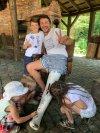 Сергей Притула со своими детьми