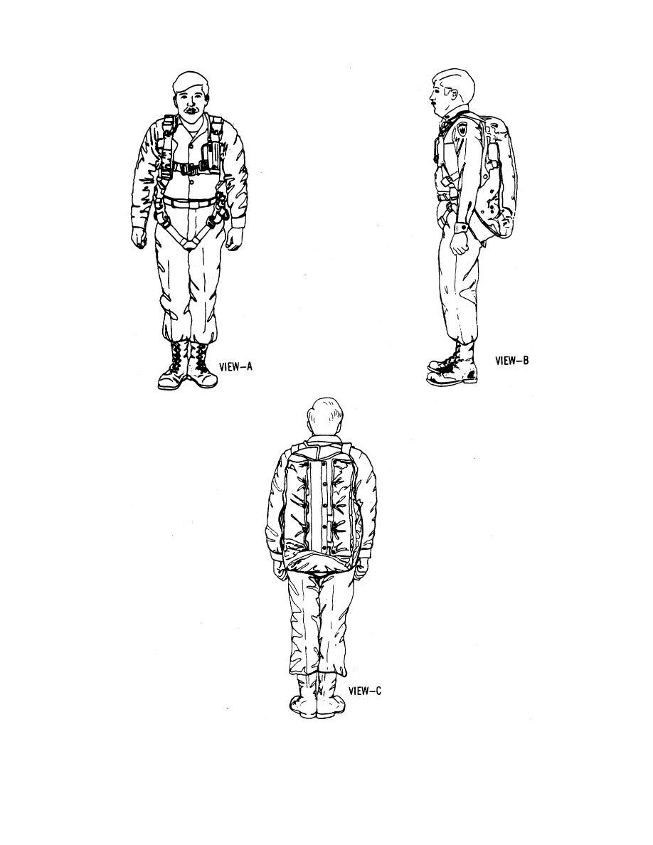 Figure 1-1. The 28-Foot Back Personnel Parachute.