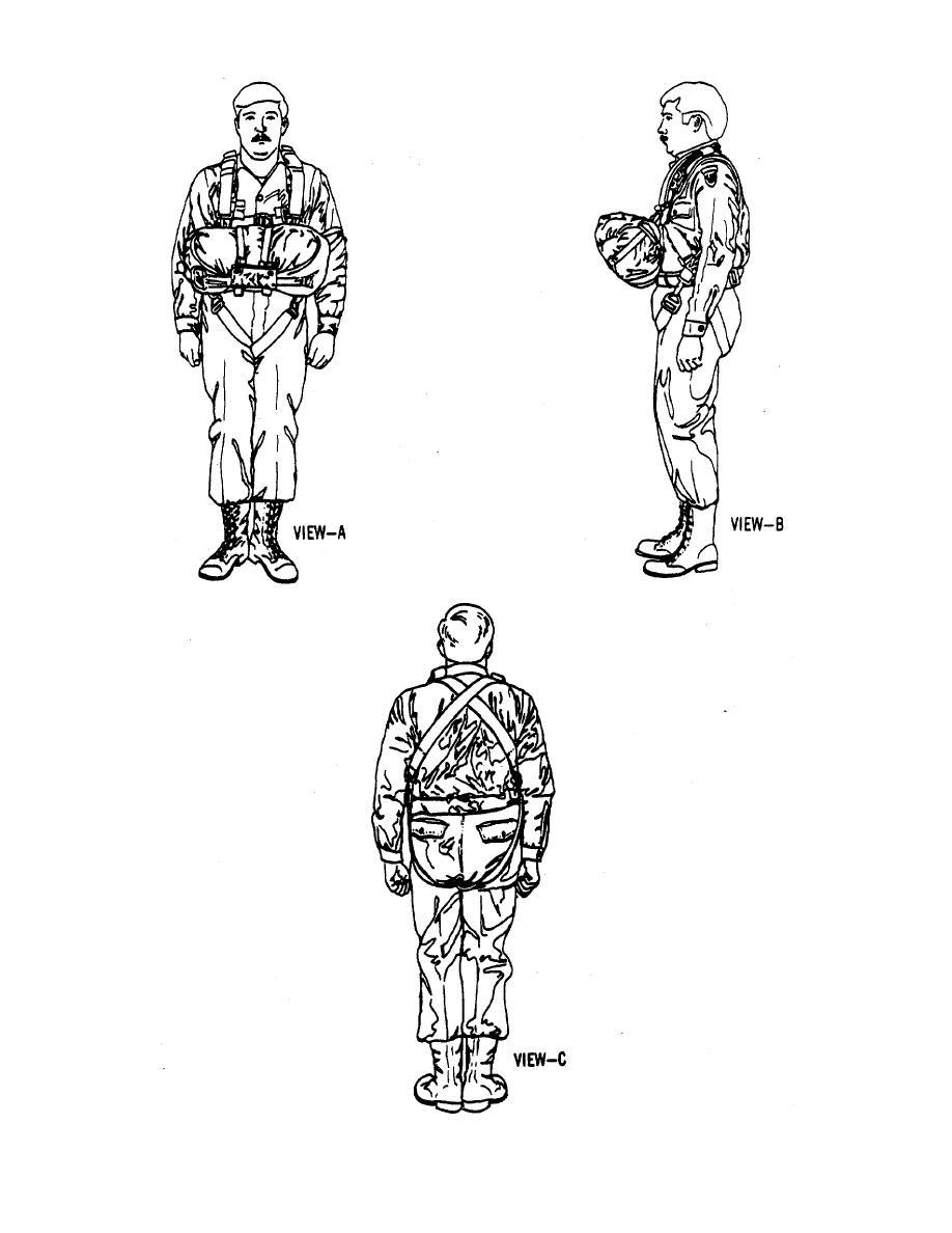 Figure 1-2. The 28-Foot Chest Personnel Parachute.