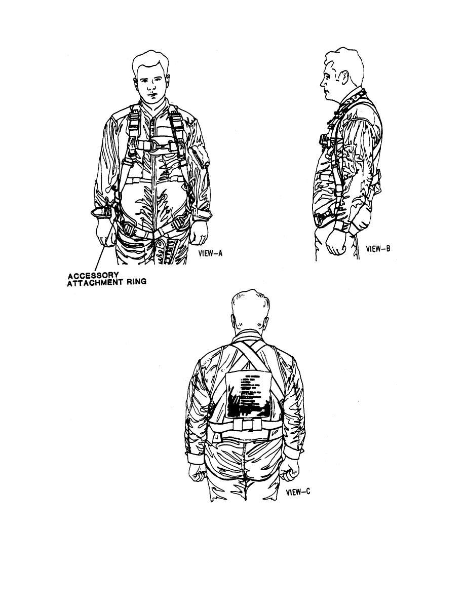 Figure 1-4. Adjustable Parachute Ejection Seat Restraint