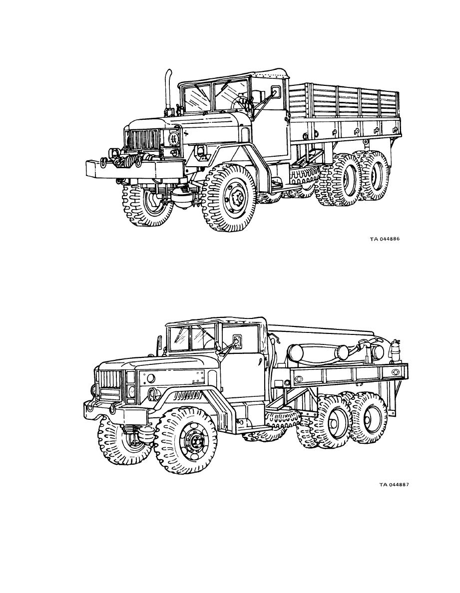 Figure 1-1. Typical 2 1/2-Ton 6x6 Cargo Truck (M35A1