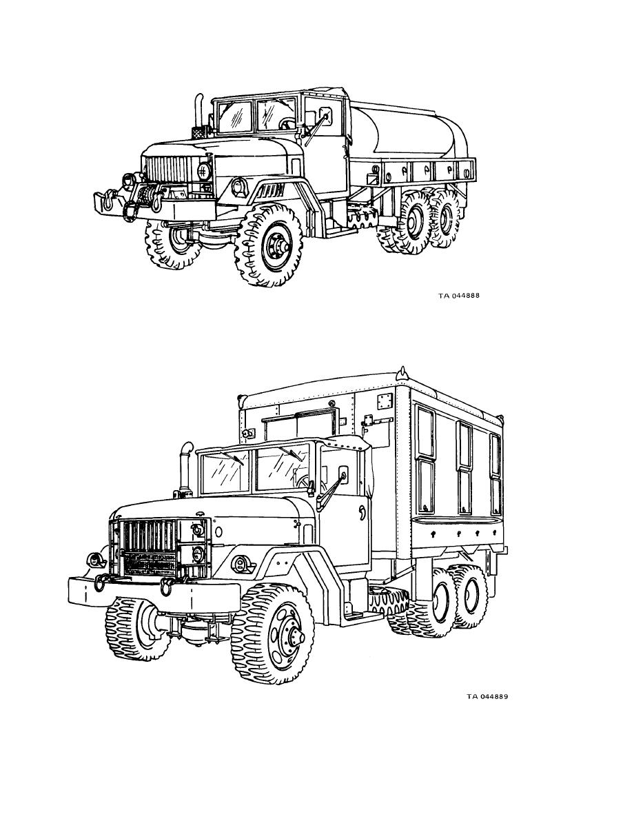Figure 1-4, Typical 2 1/2-Ton 6x6 Truck Mounted Instrument