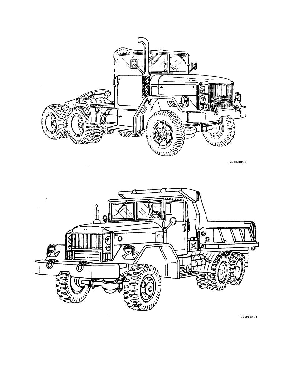 Figure 1-6. Typical 2 l/2-Ton 6x6 Dump Truck (M342A2)